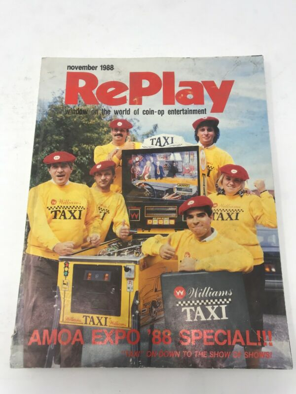 Replay Magazine November 1988 Arcade Video Game Magazine AMOA Expo