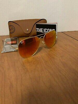Ray-Ban Sunglasses Aviator Men Women Gold Frame Orange Flash RB3026 112/69 (Cheap Original Ray Ban Sunglasses)