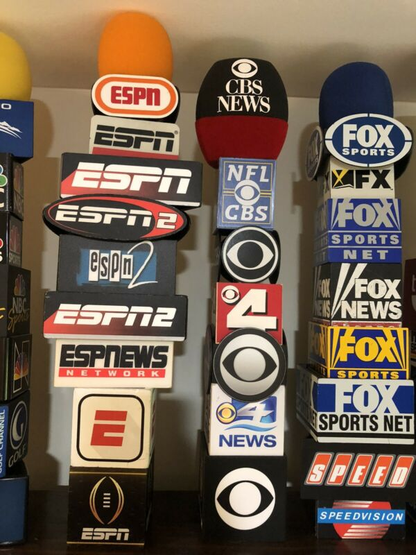 TV Channel Network Mic Flags Microphone TV Television News and Sports