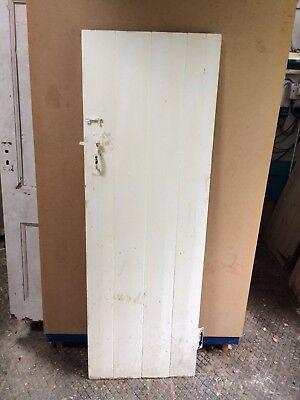 "Reclaimed Ledged Plank / Cottage Type Door 72 1/2"" X 24 3/4"""