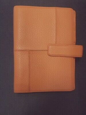 Franklin Covey Slim Compact Pebbled Leather Binder 2 Colors .75 Rings