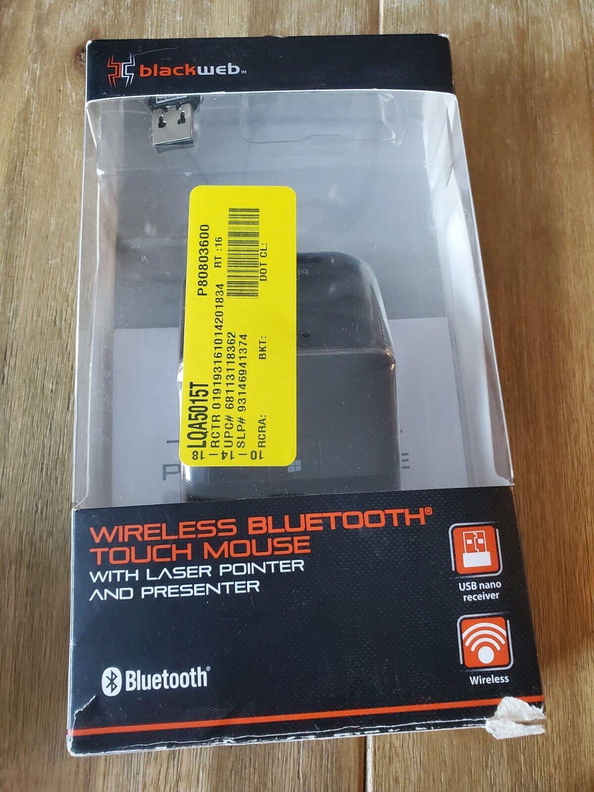 Blackweb BWA18HO014 Wireless Bluetooth Touch Mouse, Black