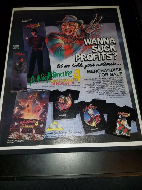 Nightmare On Elm Street 4 Rare Original Promo Poster Ad Framed!