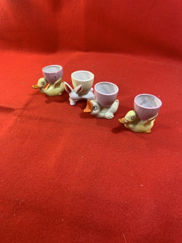 Vintage Lot of 4 Ceramic Animal Figurine