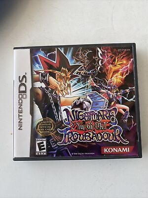 Yu-Gi-Oh Nightmare Troubadour - Nintendo DS- Case, Booklet And Game