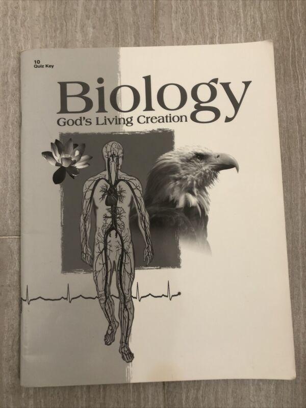 Abeka Science Biology Grade 10 Teacher Quiz Key