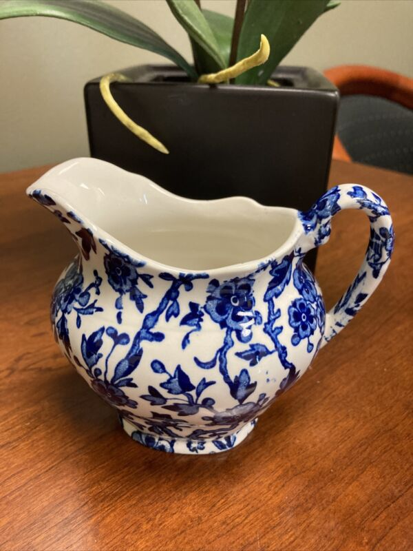 Burgess & Leigh ARDEN BLUE Floral Creamer/Small Pitcher Staffordshire England