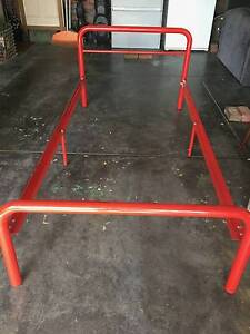 Single Red Bed Frame (no slats) Donvale Manningham Area Preview