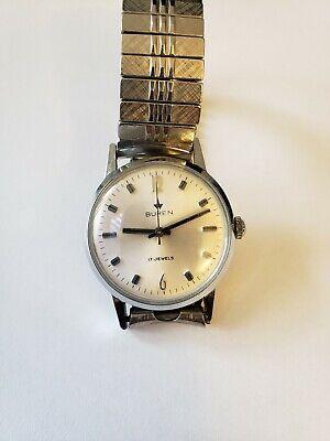 Vintage Buren 17 Jewels Mechanical Mens Watch.