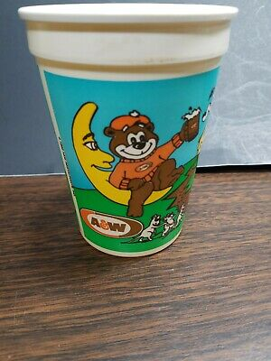 "A&W root beer collectibles plastic cup  4"" tall 1992"