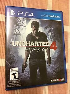 UNCHARTED 4 FOR PS4 LIKE NEW!!!