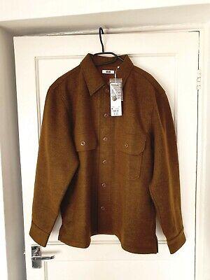 Uniqlo U Long Sleeved Fleece Shirt Jacket Mustard - Medium