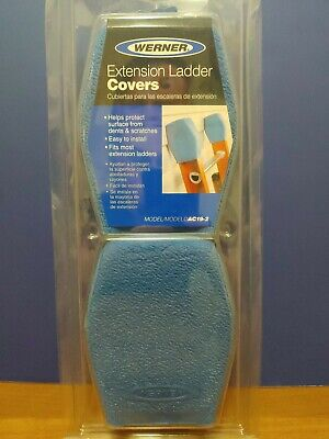 2 Ladder End Protector Mitts Extension Ladder Rubber Ends - Wall Pads - Brandnew