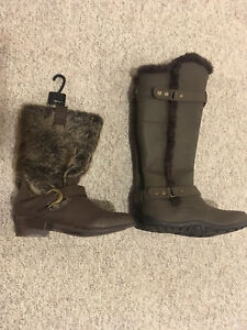 2 brand new pairs of boots both ladies size 8