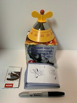 A di Alessi Michael Graves Kitchen Timer, YELLOW~ship free