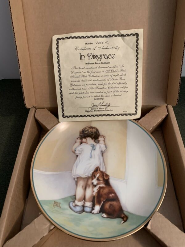 The Hamilton Collection In Disgrace Collector Plate Bessie Pease Gutmann 1985