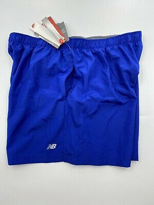 New Balance Men's On The Rise Short Size XL blue Running Gym Shorts With Pockets
