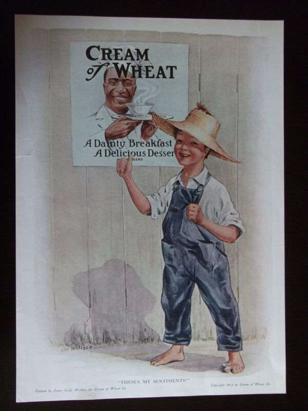 "1913 Cream Of Wheat Advertisement ""Them"