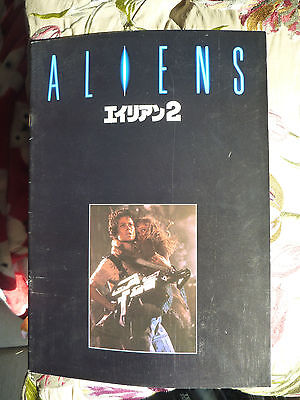 Aliens Japanese original Souvenir Movie Programme Sigourney Weaver RARE