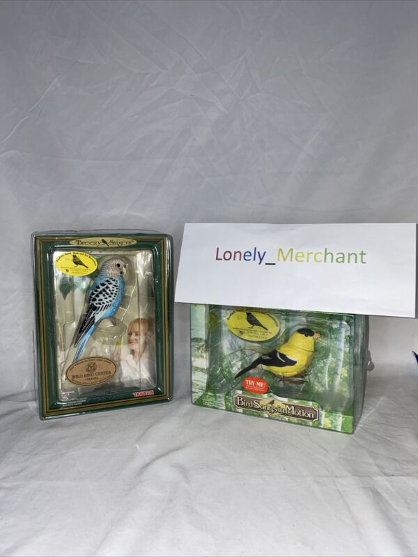 Lot 2 Takara Birds In Motion Breezy Singers The Parakeet And American Goldfinch