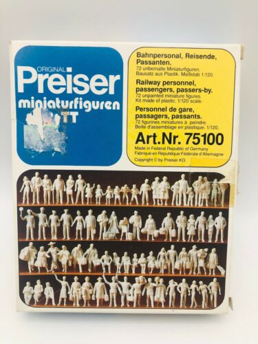 Preiser 75100 TT Scale Scenery Accessories - Railway Personnel & Passengers