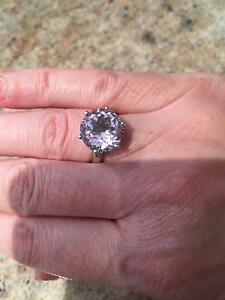 ROSE DE FRANCE AMETHYST 5CT SOLITAIRE RING IN STERLING SILVER Glen Waverley Monash Area Preview