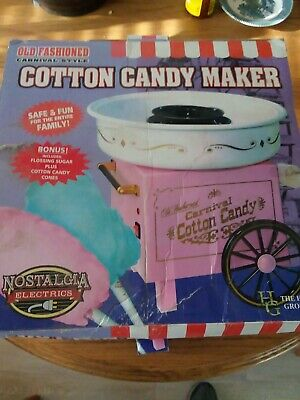 Nostalgia Electrics Old Fashioned Carnival Style Cotton Candy Maker New In Box