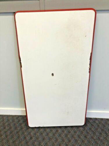Vintage ENAMEL TABLE TOP hoosier porcelain Red White country granite cabinet 40s
