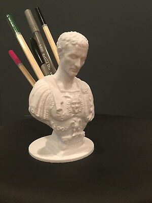 Julius Caesar Ides Of March Pen Pencil Holder Sculpture Desktop Organizer