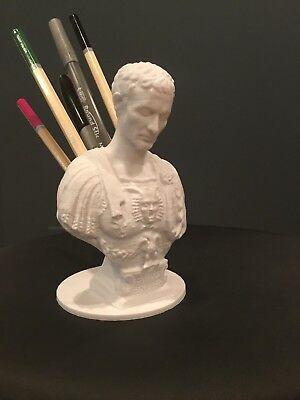 Julius Caesar Ides Of March Pen Pencil Holder Sculpture Desktop Organizer