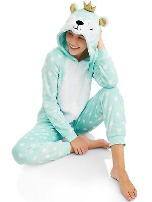Neuer Frauen Einteiler Schlafanzug Bär Union Anzug Halloween Kostüm S M L XL ()