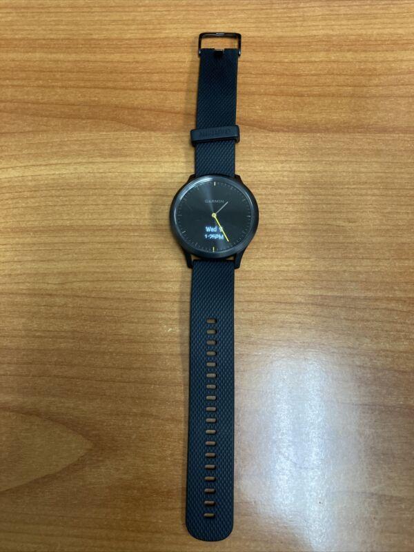 Garmin Vivomove HR Hybrid Smartwatch Sport Black Pre-Owned tested Not In Box