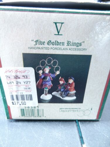 """Dept 56 Heritage Village Twelve 12 Days of Christmas Day V - """"Five Golden Rings"""""""