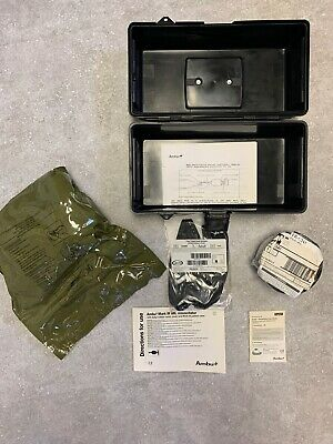 Ambu Mark Iii Mil Resuscitator Device In Case With C2a1 Gas Mask Filter New J-18