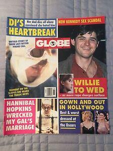 Globe Magazine 4/14/1992, Anthony Hopkins, Princess Di, Nick Nolte, Pamela Smart