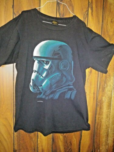 Vtg 1996 Stormtrooper GLOWS DARK STAR WARS T Shirt Lucasfilm L RARE Made USA t50