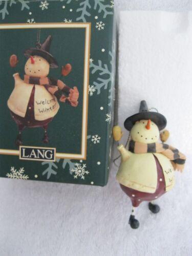 LANG SNOWMAN CHRISTMAS ORNAMENT