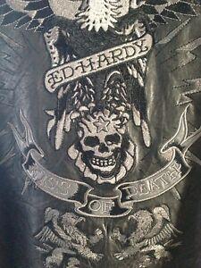 Ed Hardy leather jacket