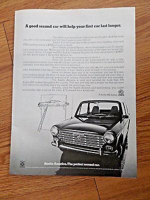 1969 Austin America Car Ad   The Perfect Second Car