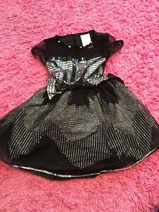 Black & Silver Halloween Dress - children's size small
