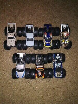 Hot Wheels Monster Jam Lot Of 7 Ice Monster Black Smith Bounty Hunter Mega Bite