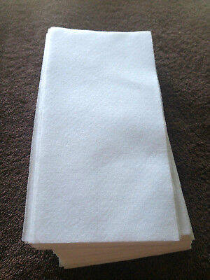 Disposable Guest Towels (45 Disposable Paper Guest THICK Hand Towels Napkins For Dinne Cleanup etc White)