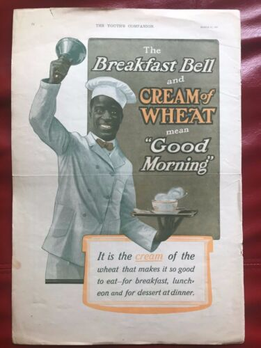 black Americana Cream Of Wheat AD BREAKFAST&CREAM OF WHEAT MEANS GOOD MORNING 05