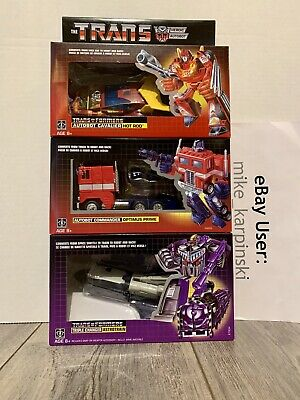 Transformers Reissue G1 Walmart : Optimus / Hot Rod / Astrotrain : New / Sealed