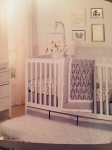 9 piece baby nursery crib bedding set and decor