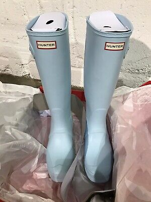 Hunter Boots Womens Tall UK Size 8 Boat Blue