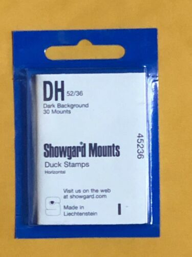 SHOWGARD STAMP MOUNTS DH 52/36 - U.S. DUCK STAMPS