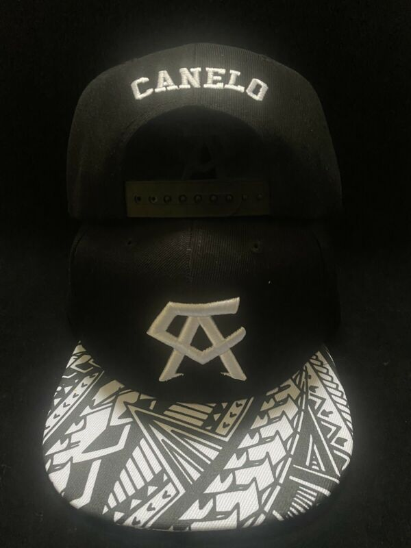 Canelo Alvarez Hat Bandana Tribal brim BOXING CHAMPION SNAPBack Black Rare