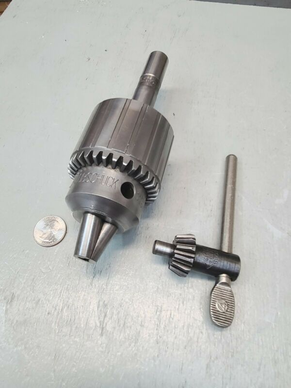 "Jacobs Drill Chuck No 36, 3/4"" Straight Shank Cap. 3/16"" - 3/4""  w/Key & Adapter"