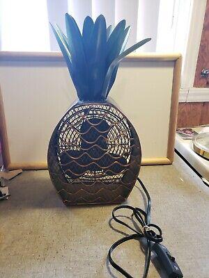 7 Figurine Fan (DecoBREEZE Table Fan Two Electric Figurine Fan, 7 in, Pineapple DBF0375 )